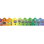 Judaica Chanukah  pre-cut trimmers Pack of 10