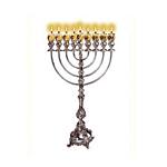 Judaica pre cut cardstock  Lit Menorah