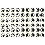 Self Adhesive Eyes Stickers 13mm Round 2000/pkg.