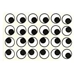 Self Adhesive Eyes Stickers 19mm Round 1000/pkg.