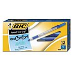 BIC Round Stic Xtra Precision Ball Pens, Fine Point (0.8 mm), Blue, 12-Count