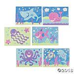 Peel & Stick Sand Art Kit - Ocean Animals - 24 Projects