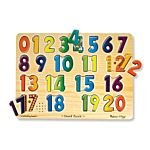 Numbers Sound Wood Puzzle - 21 Pieces