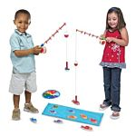 Melissa & Doug Catch and Count Wooden Fishing Game With 2 Magnetic Rods