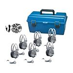 Classroom Listening Center, 6 Station Jackbox - Deluxe Headphones With Volume Control And Carrying Case