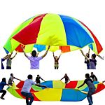 Parachute 12 Foot for Kids Parachute with 12 Handles for 8 12 kids tent play