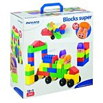 Miniland Super Blocks with Characters, 64-Pieces Set