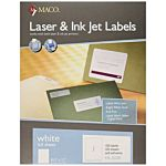 MACO Laser/Ink Jet White Full Sheet Labels, 8-1/2 x 11 Inches, 1 Per Sheet, 100 Per Box ML-0100