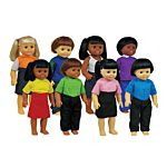 Multicultural Dolls - Set of all 8 by Get Ready Kids, MTB639