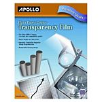 Apollo Plain Paper Copier Film without Sensing Stripe, 8.5 x 11 Inches, Clear 100 Sheets per Box