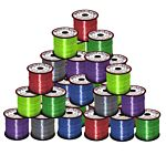 Plastic Lacing spool Value Pack - Clear Transparent Colors 50/case