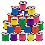 Plastic Lacing Spool Value Pack - Neon Colors 50/case