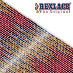 Pepperell Rexlace Britelace & Tie Dye Plastic Lacing Spool , Red