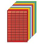 Small Vertical Incentive Chart Set, 14 in W X 22 in H, Assorted Color, Set of 12, SE-369