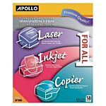 Apollo Transparency Film - Letter size 8.5
