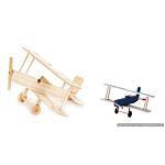 Darice Wood Model Kit - Bi Plane - 3-1/2 x 8-1/2 x 7-1/2 inches (9169-08)