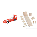 Darice Wood Model Kit - Race Car - 6-1/4 x 2-1/8 inches (9169-03)