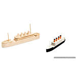 Darice Wood Model Kit - Titanic - 7.25 x 2 inches (9178-91)