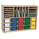 WoodDesigns, Kids, Multi-Storage with (15) Assorted Trays