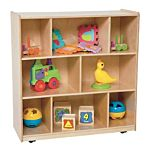 WoodDesigns, Children Center Storage Unit, Natural wood ,  38
