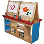 Wood Designs Classroom Art Center For Four , Blue, WD19300