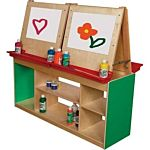 Wood Designs Classroom Art Center For Four , Green, WD19300
