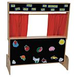 Wood Designs, Children Play, Deluxe Puppet Theater with Flannelboard