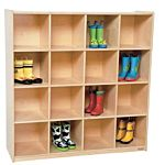WoodDesigns, Children 16 Big Cubby Deep Storage cubbies, Natural wood ,  49