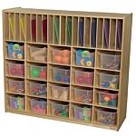 WoodDesigns, Kids, Multi-Storage with 20 Translucent Trays