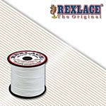 Pepperell Rexlace Plastic Craft 100 Yard Spool, 3/32-Inch Wide, White