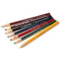 Dixon Phano Peel-Off China Marker Pencils, 12-Count