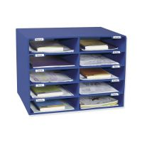 Pacon Classroom Keepers 10-Slot Mailbox, Blue, 001309