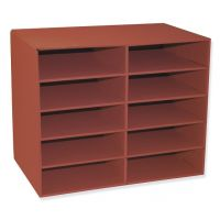 Pacon Classroom Keepers 10-Shelf Organizer, Red, 001314