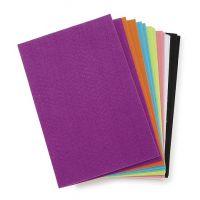 Darice FLT-0498 Felties Sticky Stiff Felt Sheets, 1mm, Bright Colors