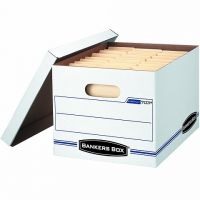 Bankers Box Stor/File Storage Box with Lift-Off Lid, Letter/Legal, 12 x 10 x 15 Inches, White (00703)