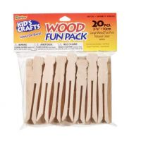 Darice Clothespin - Flat - Natural - 3-7/8 inch Large - 20 pieces (9150-97)