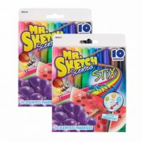 Sanford Mr. Sketch scented Stix Watercolor Markers, assorted colors pack of 10