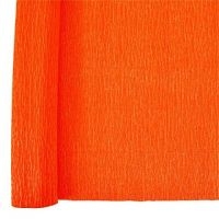 Denne Crepe Folds, 20 x 7.5-Feet, Bright Orange