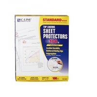 Top Load Crystal Clear Poly Sheet Protectors 100 Standard Weight