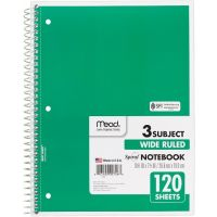 Mead Spiral Notebook 3 Subject 10.5