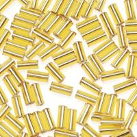 Glass Bugle Beads  Gold - 5mm