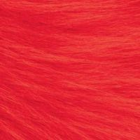 Long Pile Craft Fur - Red - 9 x 12 inches