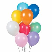 9'' Latex Assorted Solid Color Balloons 144 package