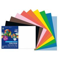 Pacon Tru-Ray Construction Paper, 12-Inches by 18-Inches, 50-Count, Assorted 103063