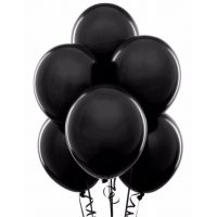11'' Latex Black Color Balloons 144 package