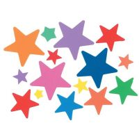 Bucket of Foamies Stickers, Stars, 5-Ounce, Assorted Color