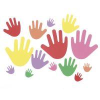 Darice  Bucket of Foamies Shape Foam , Hands, 5-1/2-Ounce, Assorted 1031-98