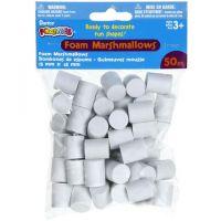 Darice 50-Piece Foam Marshmallow Shapes 15 x 18mm (50/pkg.)