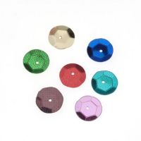 Darice Sequin Cup Assorted Colors 10mm 120 pieces