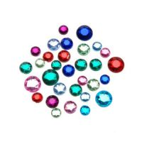 Rhinestones Round, Assorted Colors and Sizes 1 LB pack